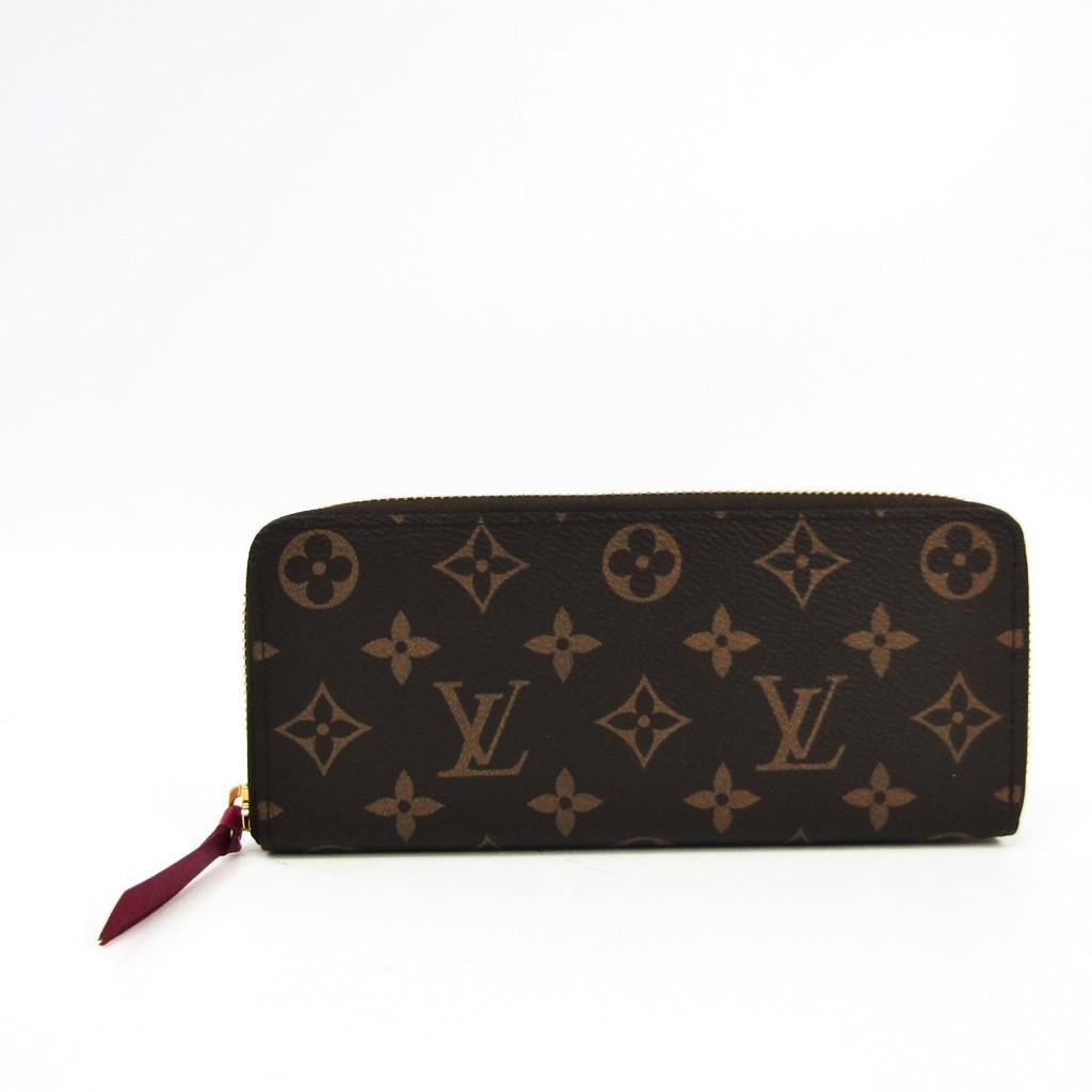 ルイ・ヴィトン(Louis Vuitton) モノグラム ポルトフォイユ・クレマンス M60742 レディース モノグラム 長財布(二つ折り) フューシャ,モノグラム 【中古】