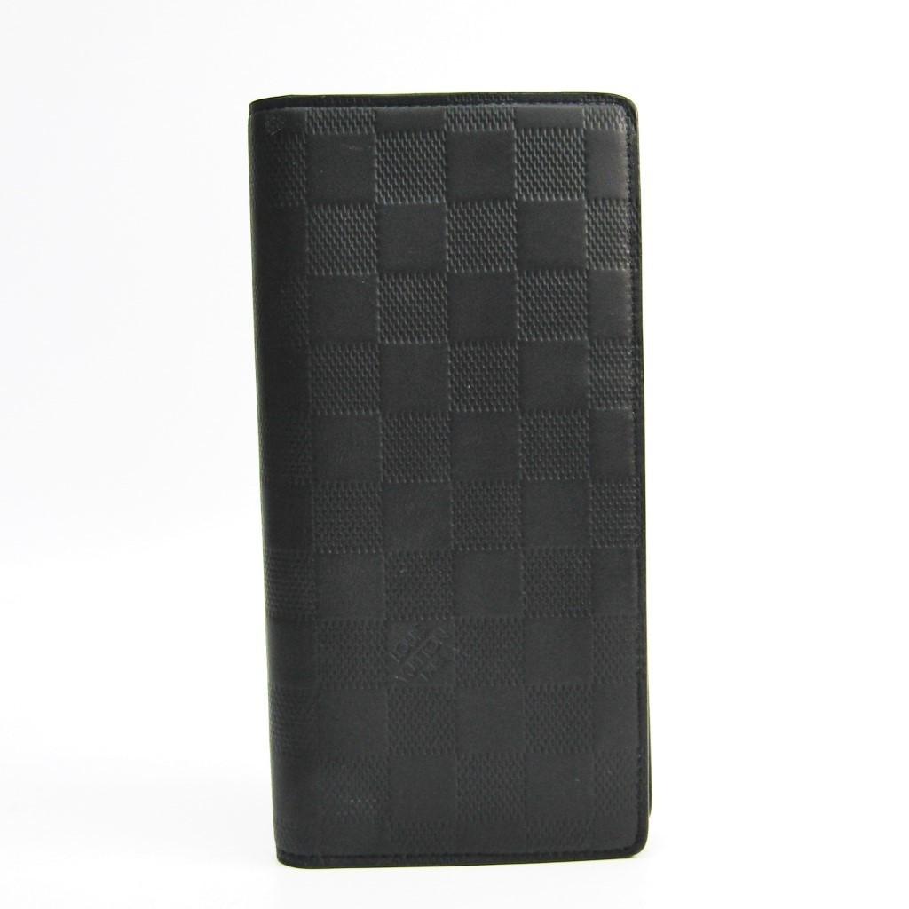 ルイ・ヴィトン(Louis Vuitton) ダミエアンフィニ ポルトフォイユ・ブラザ N63010 メンズ ダミエアンフィニ 長財布(二つ折り) オニキス 【中古】