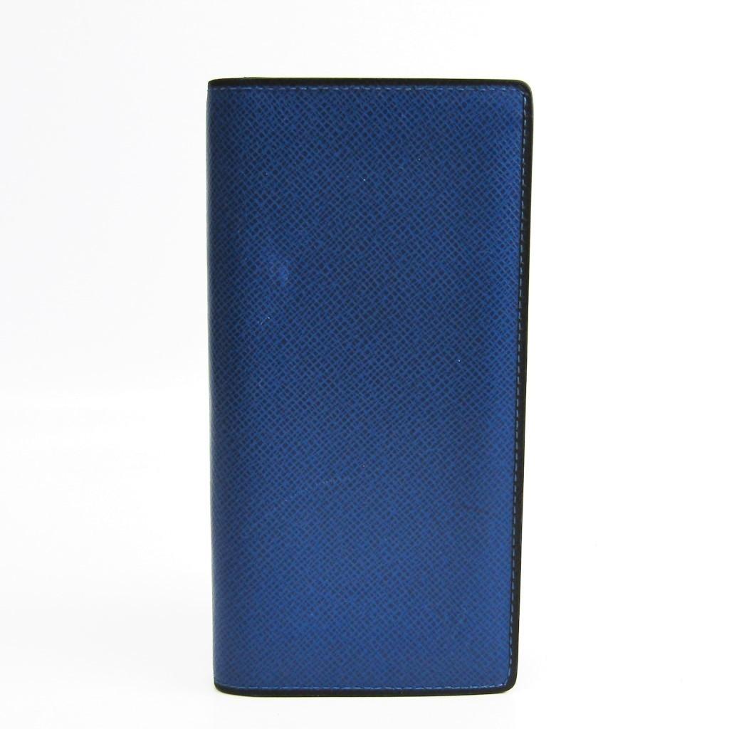 ルイ・ヴィトン(Louis Vuitton) タイガ ポルトフォイユ・ブラザ M30559 メンズ タイガ 長財布(二つ折り) ブラック,ダークブルー 【中古】