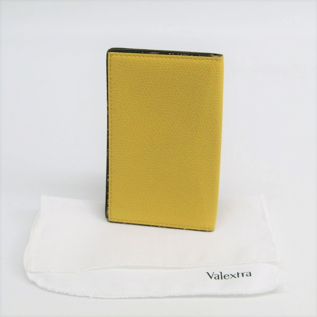 2ac70318c02 eLADY: ヴァレクストラ (Valextra) leather card case yellow V8L03 ...