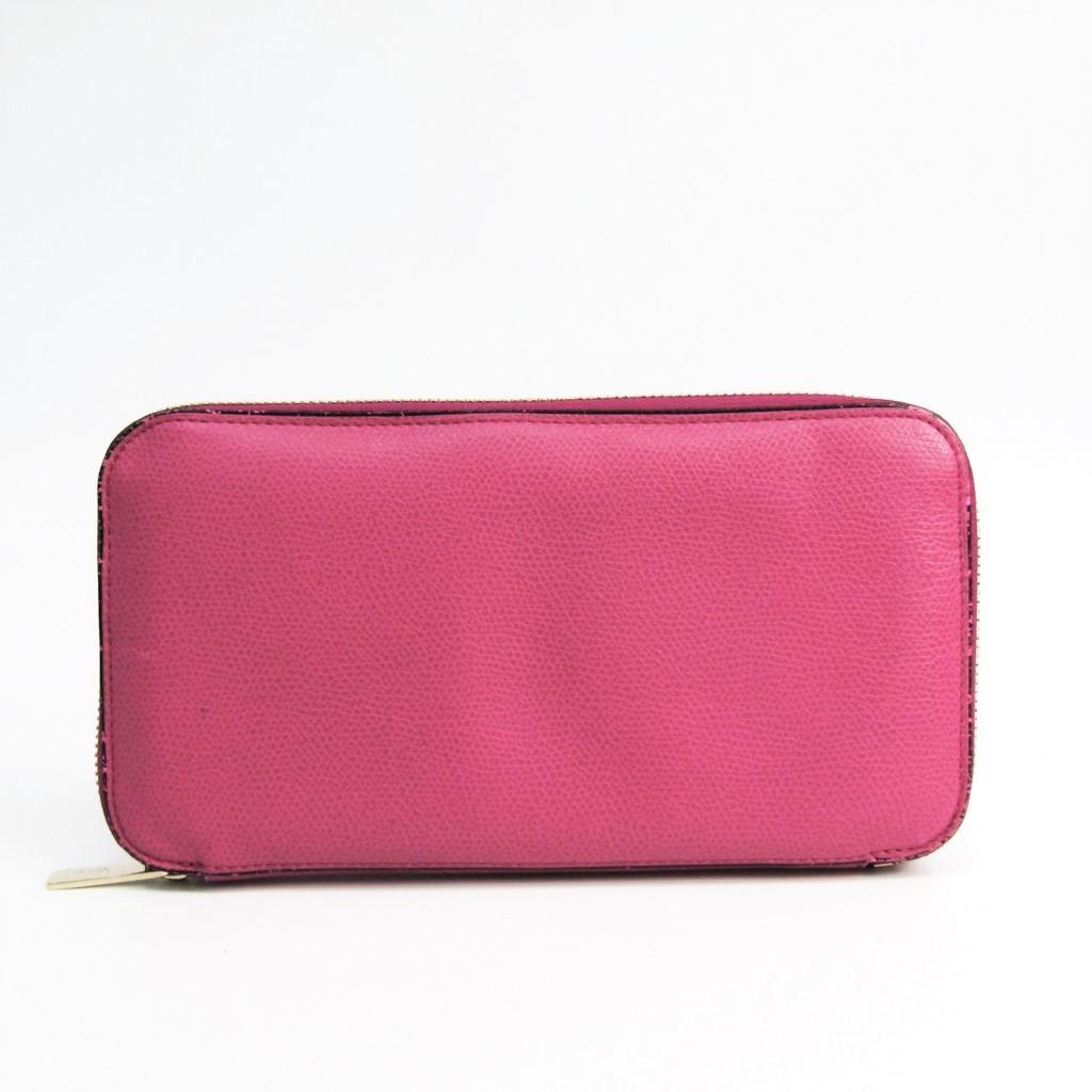ヴァレクストラ(Valextra) V9L06 レディース カーフスキン 長財布(二つ折り) ピンク 【中古】