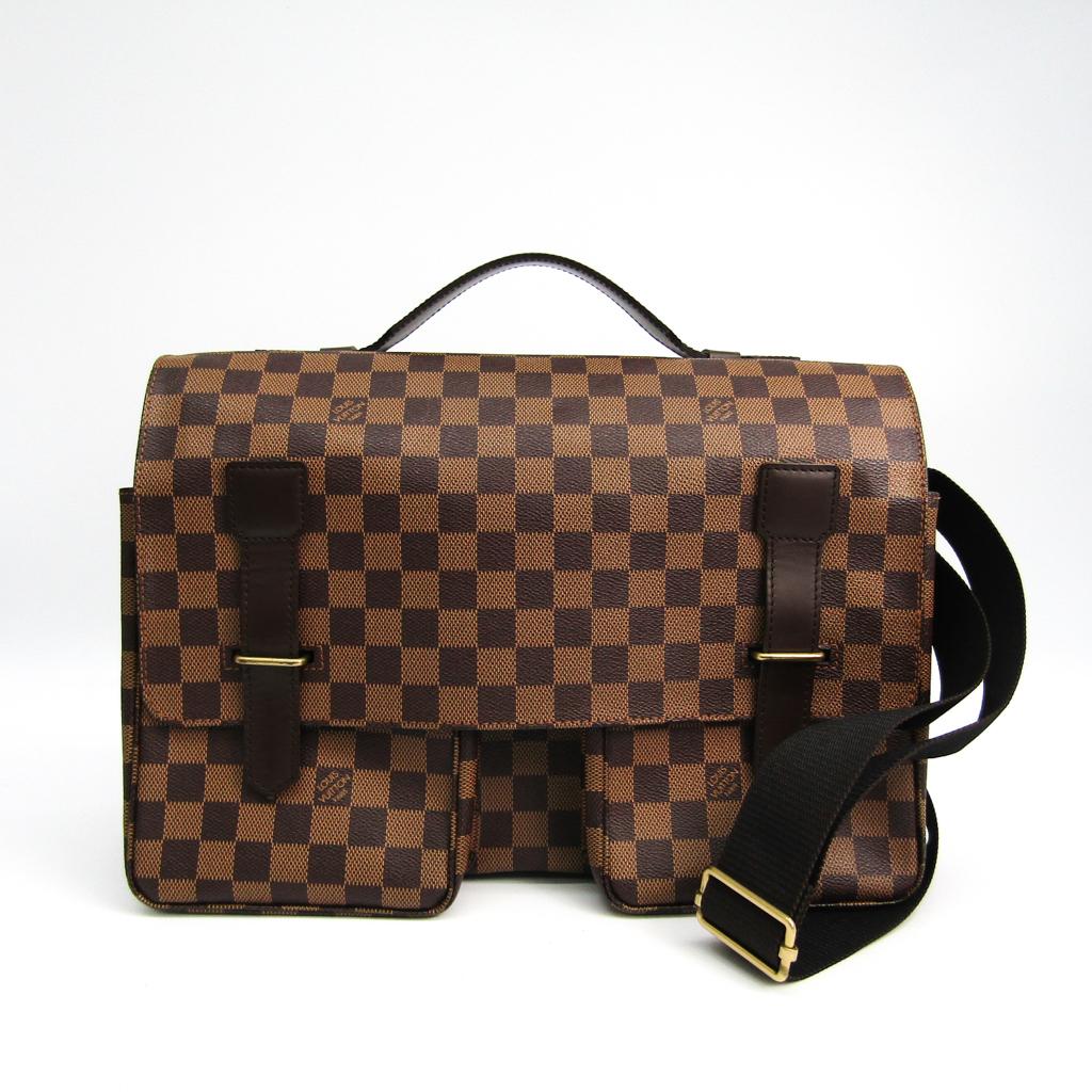 ルイ・ヴィトン(Louis Vuitton) ダミエ ブロードウェイ N42270 ショルダーバッグ エベヌ 【中古】