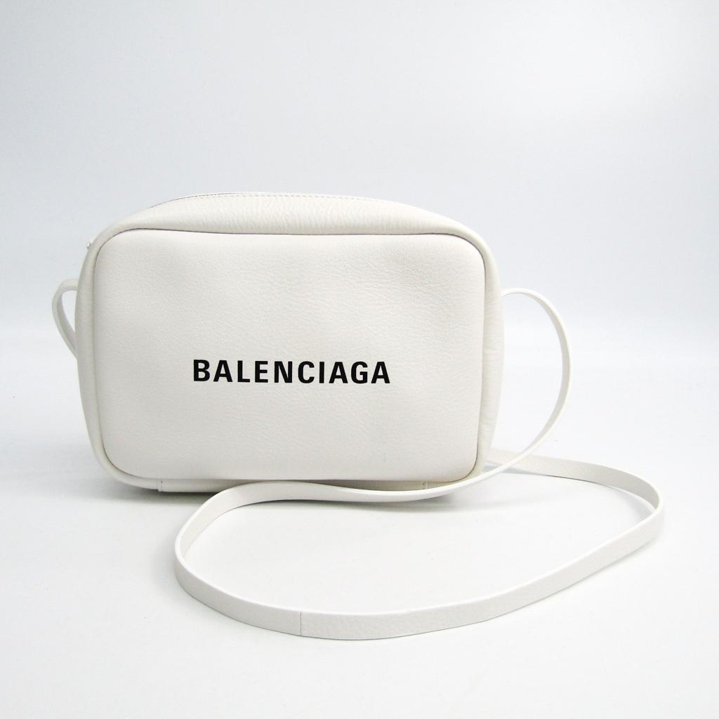 バレンシアガ(Balenciaga) エブリデイ カメラ バッグ S 489812 レディース レザー ショルダーバッグ ホワイト 【中古】
