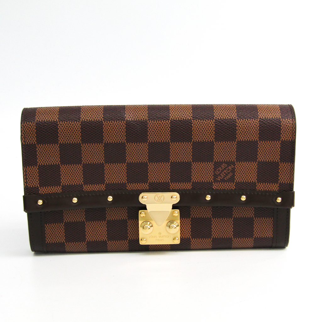 ルイ・ヴィトン(Louis Vuitton) ダミエ ポルトフォイユ・ヴェニス N60535 レディース 長財布(二つ折り) エベヌ 【中古】