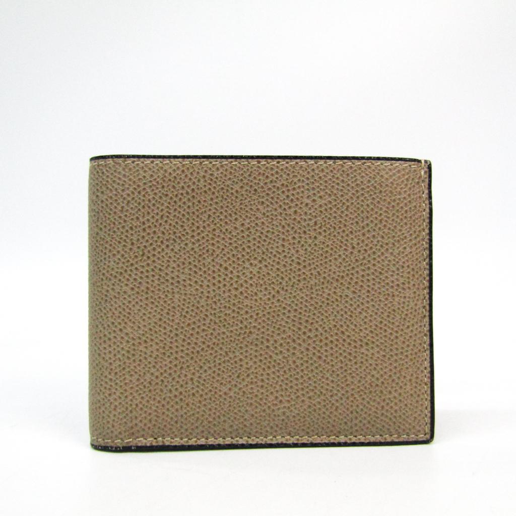 ヴァレクストラ(Valextra) V8L23 ユニセックス レザー 財布(二つ折り) ダークベージュ 【中古】