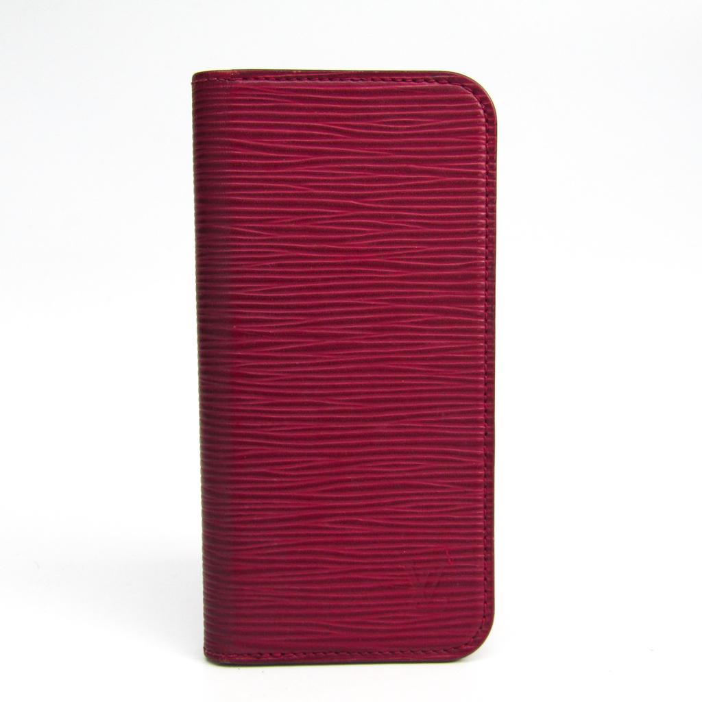ルイ・ヴィトン(Louis Vuitton) エピ IPHONE 6・フォリオ M56248 エピレザー 手帳型/カード入れ付きケース iPhone 6 対応 フューシャ 【中古】