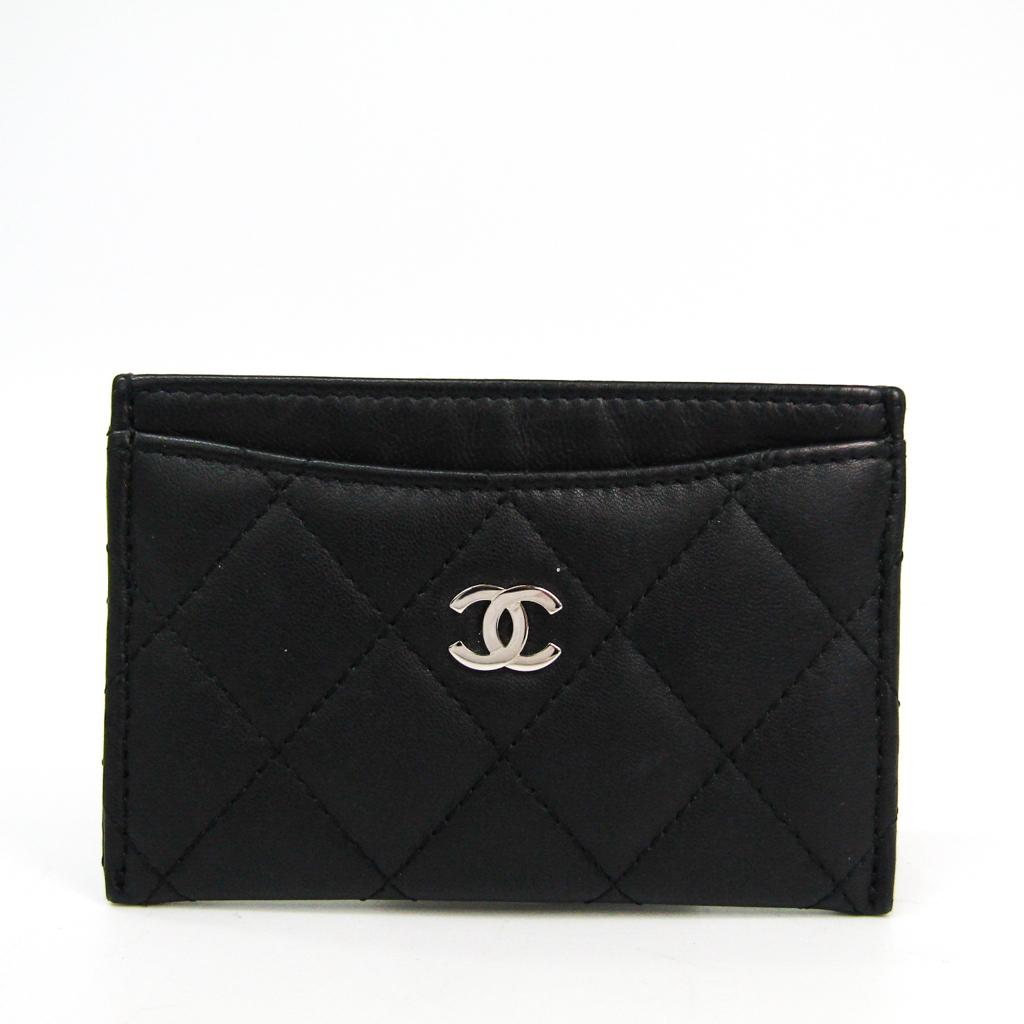 シャネル(Chanel) マトラッセ A31510 レザー カードケース ブラック 【中古】