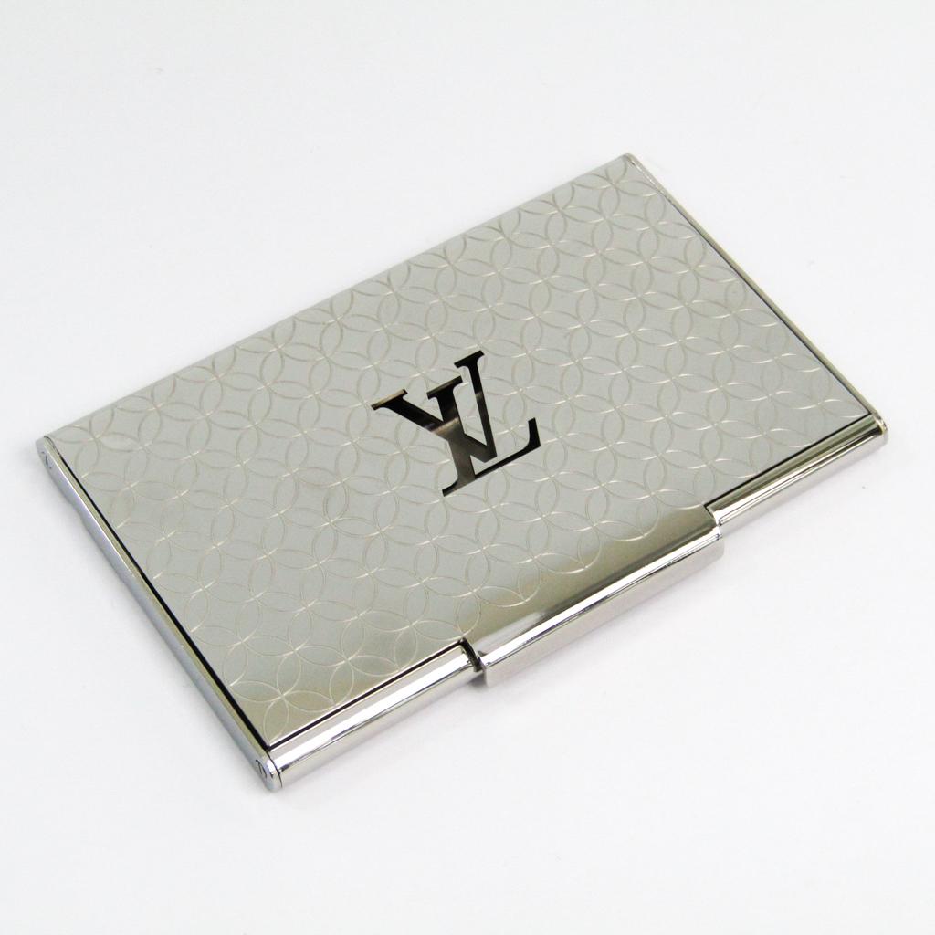 ルイ・ヴィトン(Louis Vuitton) ポルト カルト シャンゼリゼ M65227 メタル 名刺入れ シルバー 【中古】