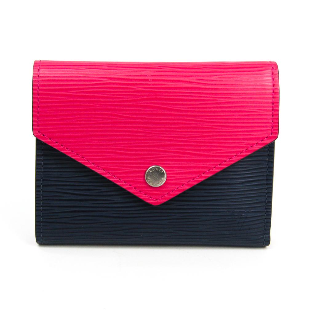 ルイ・ヴィトン(Louis Vuitton) エピ ポルトフォイユ・ヴィクトリーヌ M62204 レディース エピレザー 財布(三つ折り) ネイビー,ピンク 【中古】