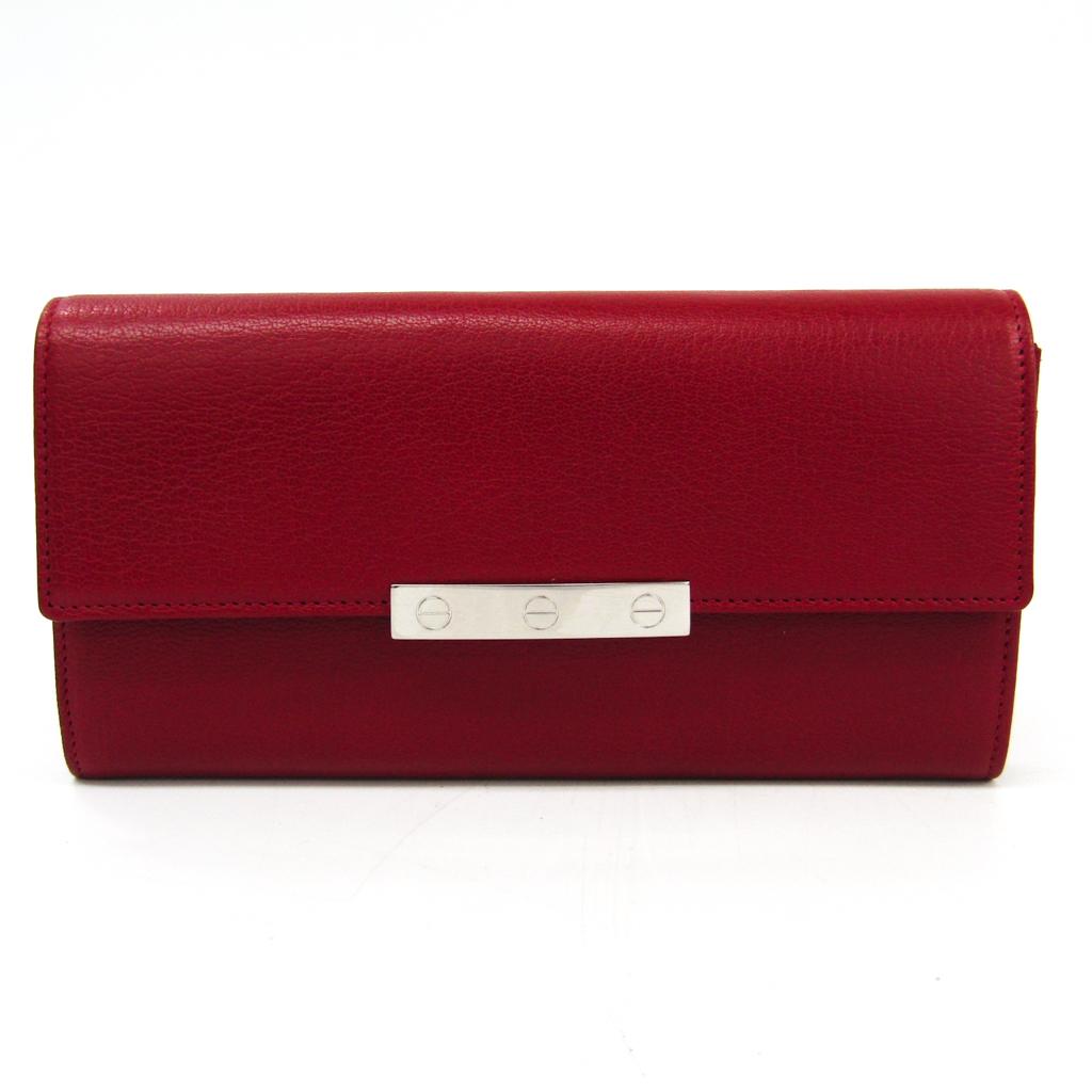 カルティエ(Cartier) ラブ L3001377 レディース ゴートスキン 長財布(二つ折り) レッド 【中古】
