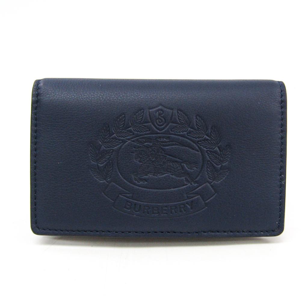 バーバリー(Burberry) レディース レザー 財布(二つ折り) ネイビー 【中古】
