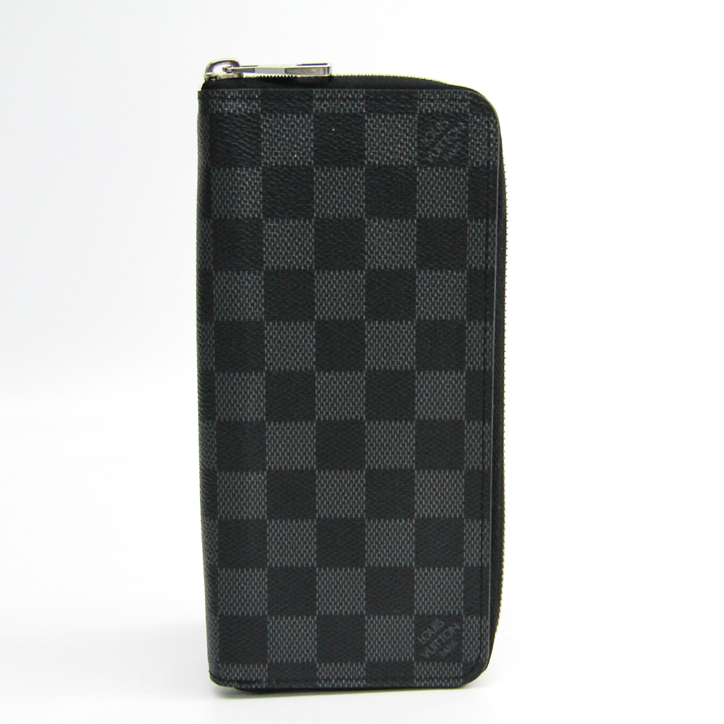 ルイ・ヴィトン(Louis Vuitton) ダミエ・グラフィット ジッピーウォレット ヴェルティカル N63095 メンズ ダミエグラフィット 長財布(二つ折り) ダミエ・グラフィット 【中古】