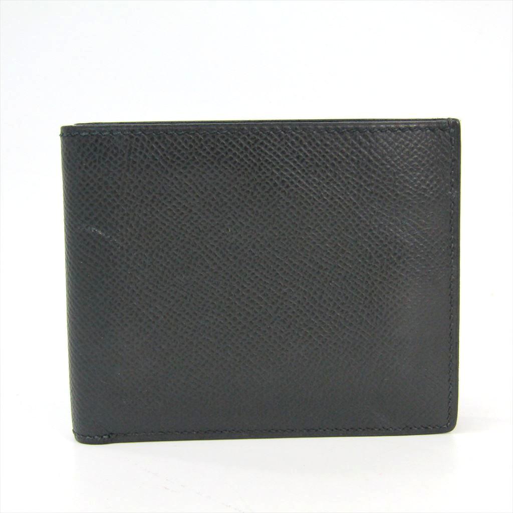 エルメス(Hermes) トップ24 ユニセックス エプソン 財布(二つ折り) ブラック 【中古】