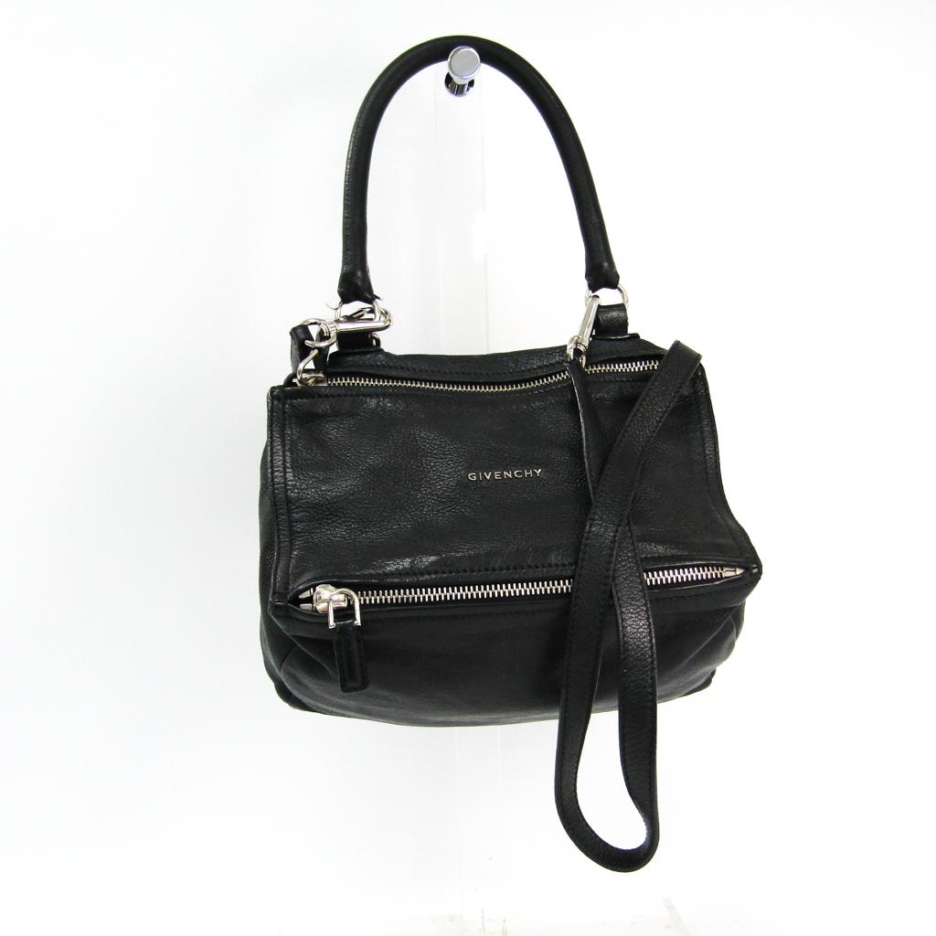 ジバンシィ(Givenchy) パンドラ スモール BB05251012 レディース レザー ハンドバッグ ブラック 【中古】