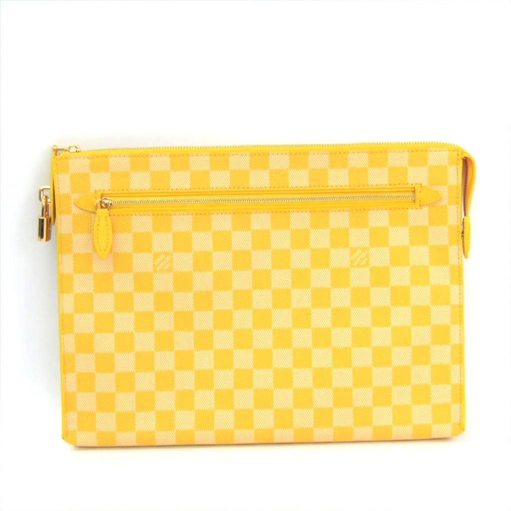 ルイ・ヴィトン(Louis Vuitton) ダミエ・カラー キット N41316 ユニセックス クラッチバッグ ミモザ 【中古】