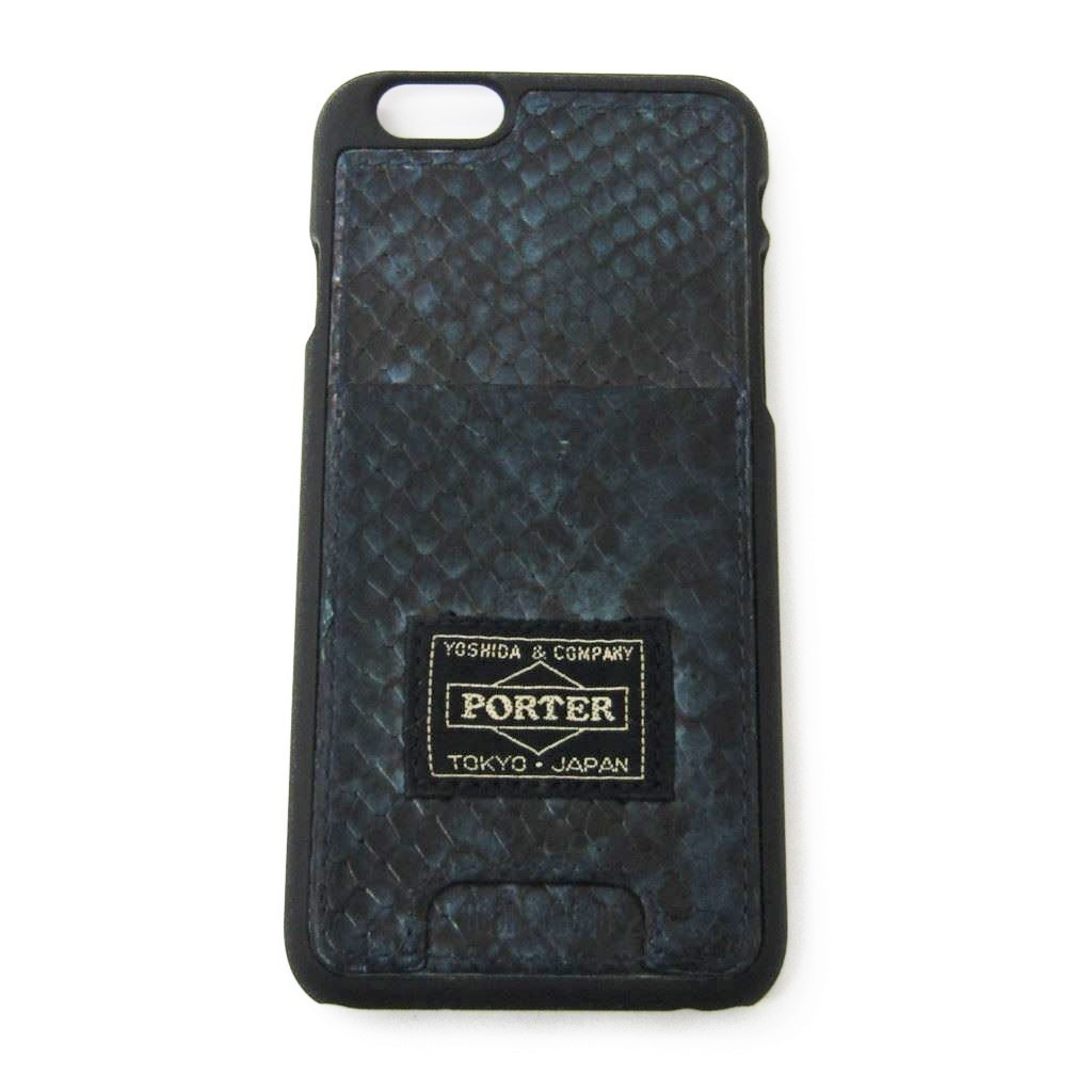 Head porter (HEAD PORTER) leather cell-phone case black, navy