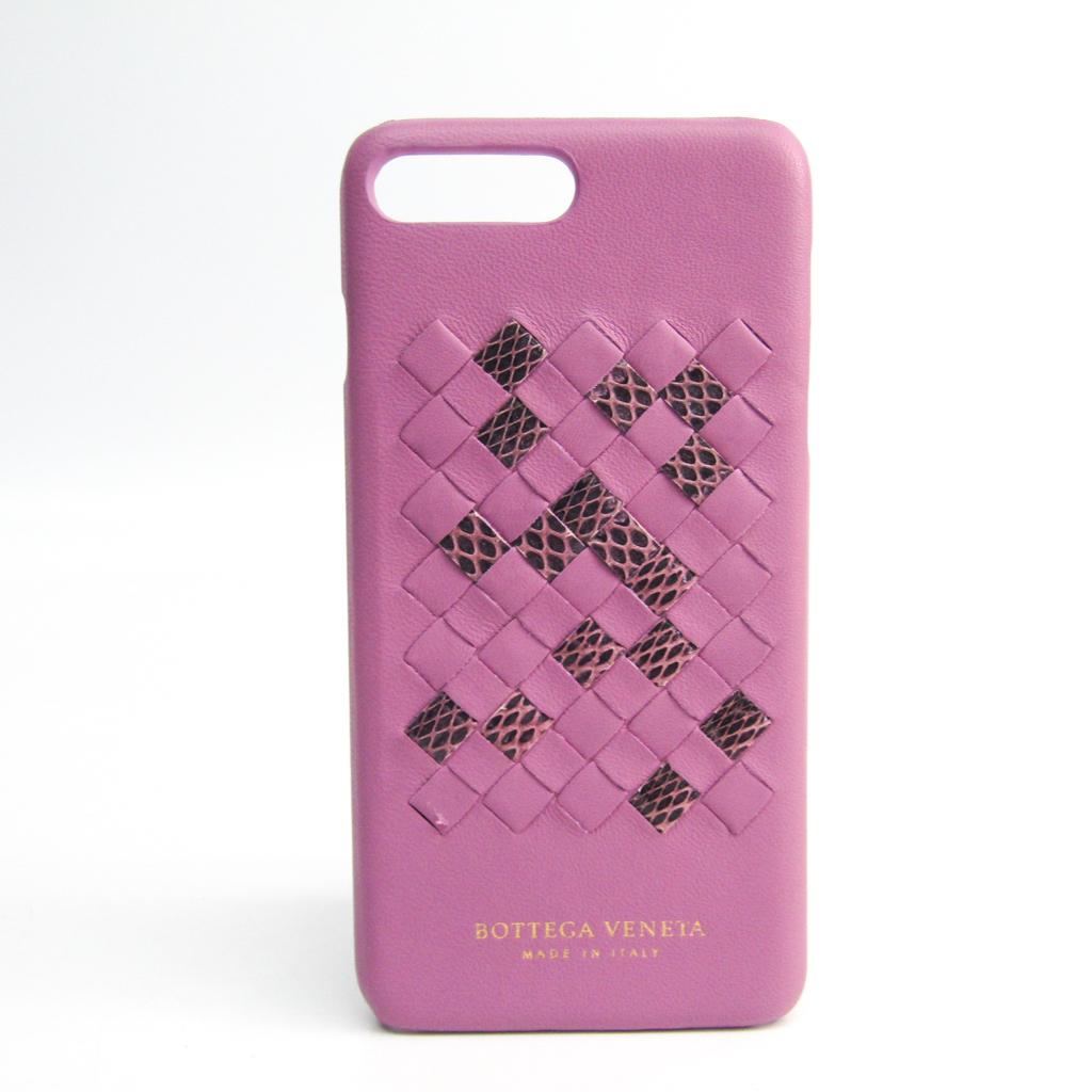 ボッテガ・ヴェネタ(Bottega Veneta) イントレチャート イントレチャート バンパー iPhone 7 Plus 対応 ピンク 【中古】
