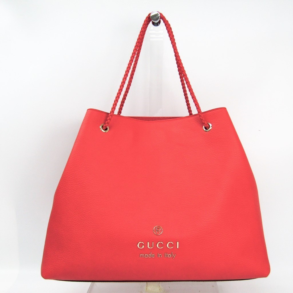 4925ecdf Gucci (Gucci) 380118 Lady's leather tote bag red
