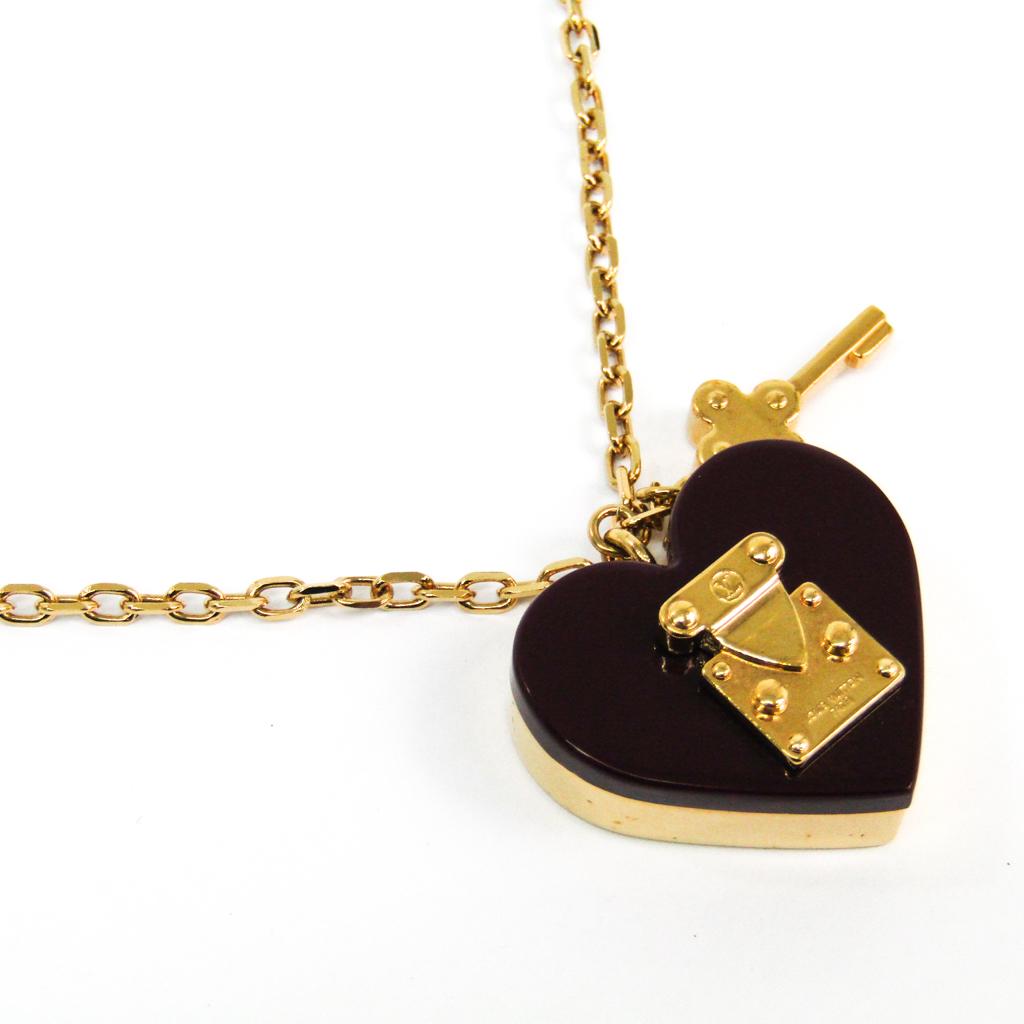 ルイ・ヴィトン(Louis Vuitton) レディース ネックレスチェーン (アマラント,ゴールド) パンダンティフ ロックミー M66515 【中古】