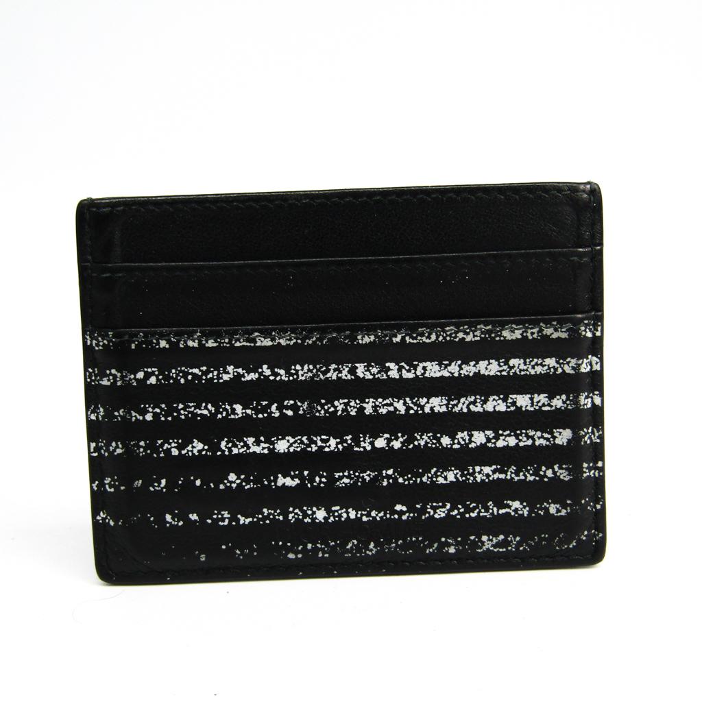 ディオール・オム(Dior Homme) レザー カードケース ブラック,ホワイト 【中古】
