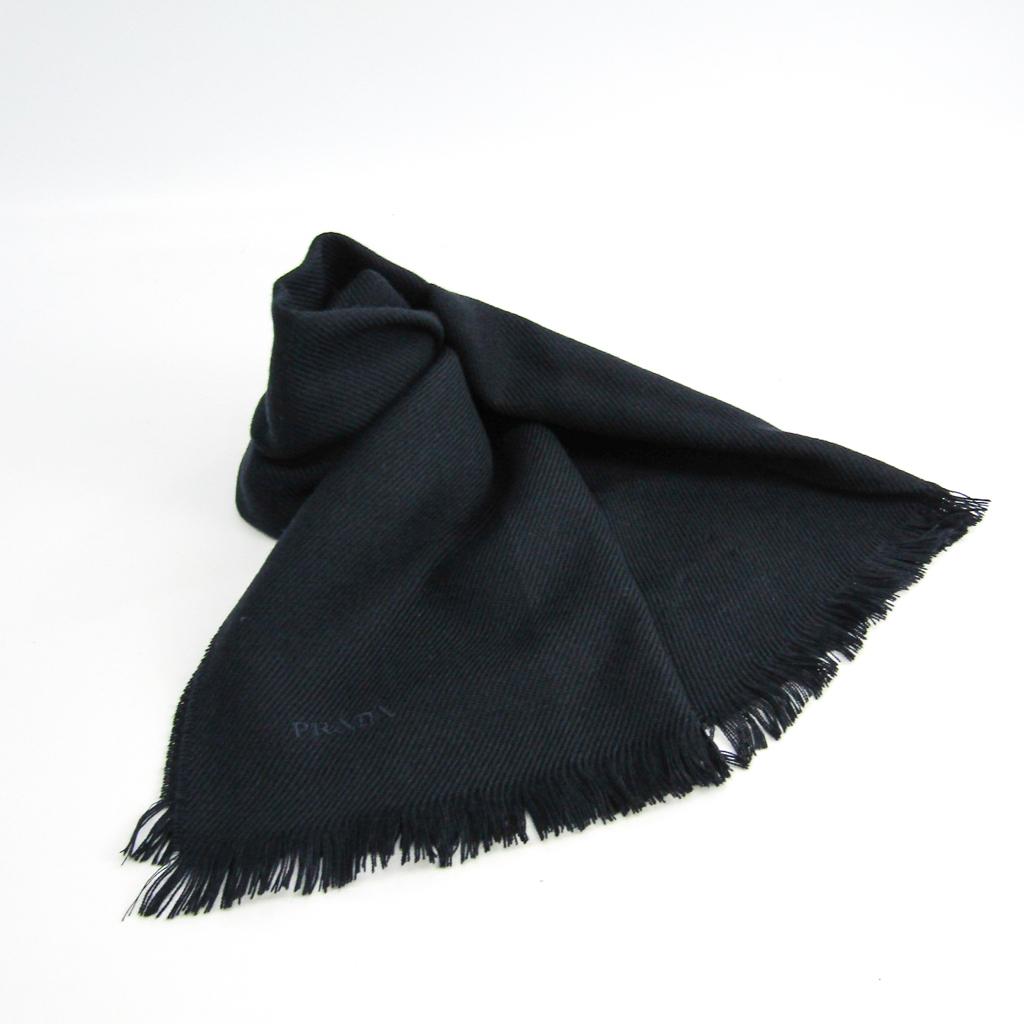 プラダ(Prada) TWILL LANA KA0209 メンズ ウール スカーフ ネイビー 【中古】