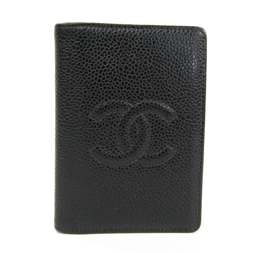 シャネル(Chanel) A13503 キャビアスキン 名刺入れ ブラック 【中古】