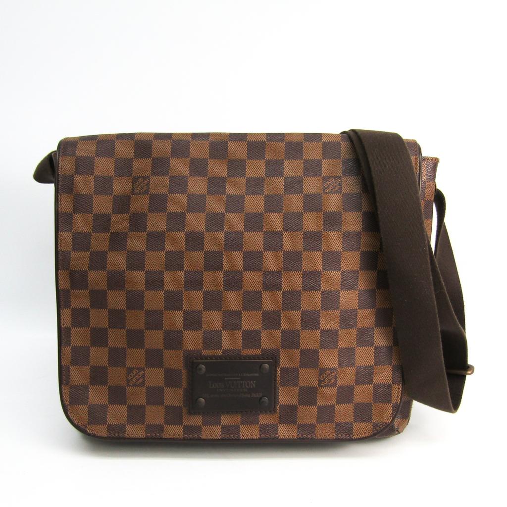 ルイ・ヴィトン(Louis Vuitton) ダミエ ブルックリンMM N51211 メンズ ショルダーバッグ エベヌ 【中古】