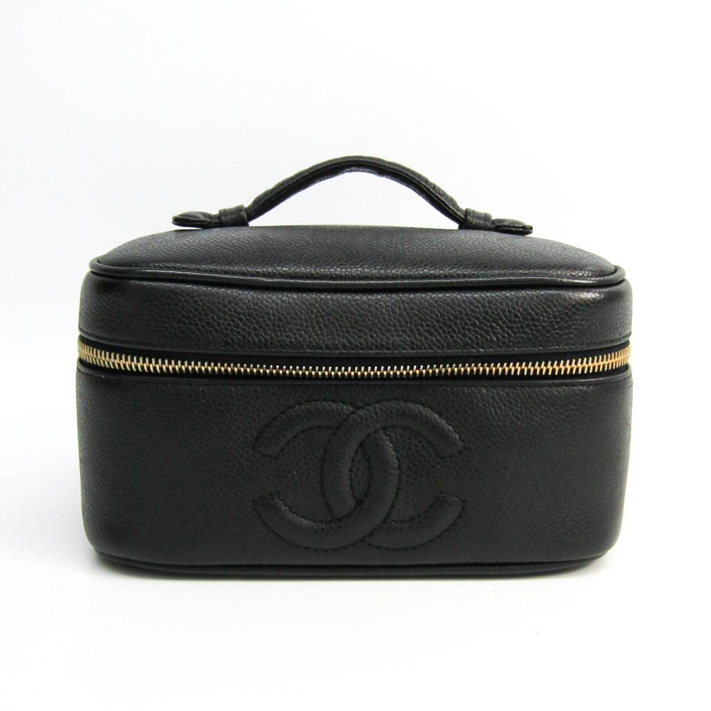 シャネル(Chanel) A01997 レディース レザー バニティバッグ ブラック 【中古】