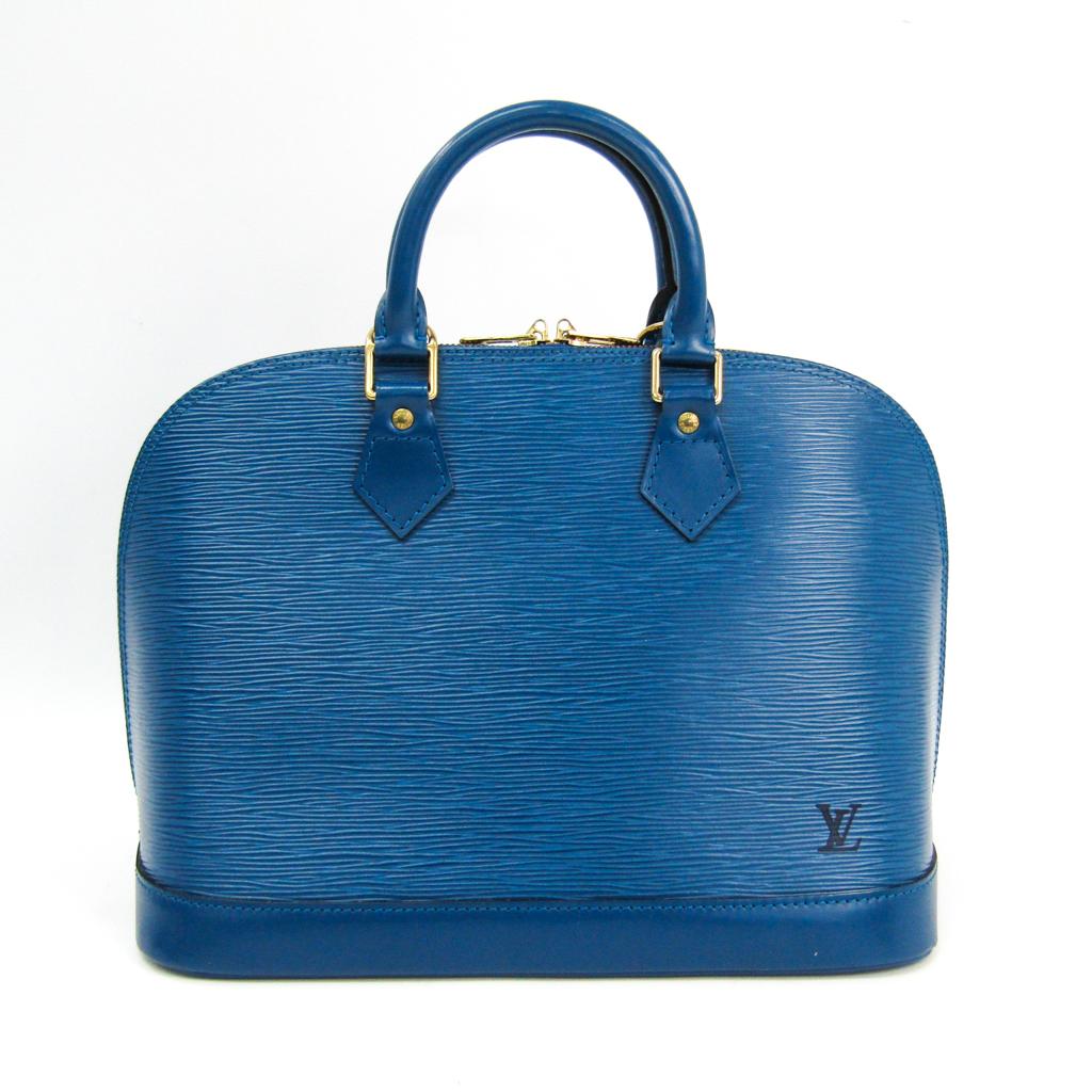 ルイ ヴィトン Louis Vuitton エピ M52145 ハンドバッグ 待望 アルマ 『4年保証』 トレドブルー 中古