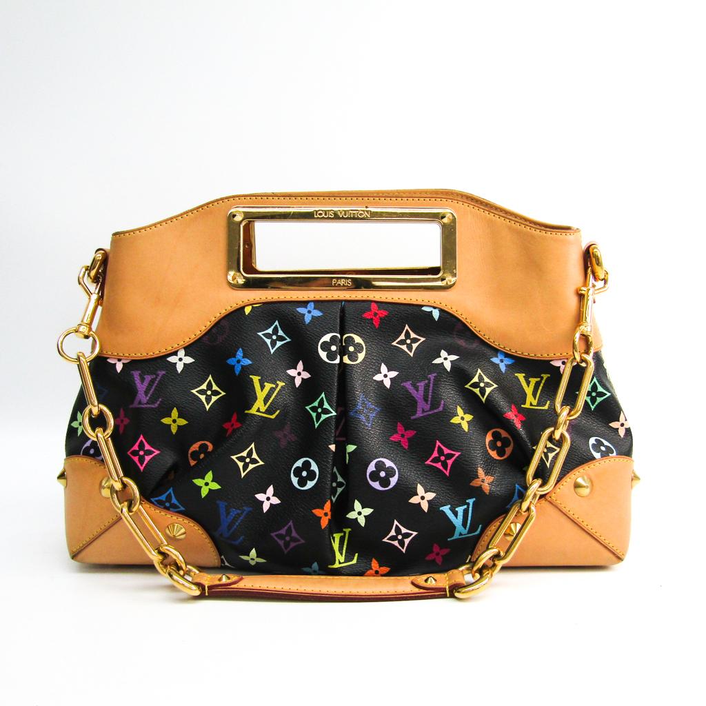 ルイ・ヴィトン(Louis Vuitton) モノグラムマルチカラー ジュディMM M40256 レディース ハンドバッグ,ショルダーバッグ ノワール 【中古】