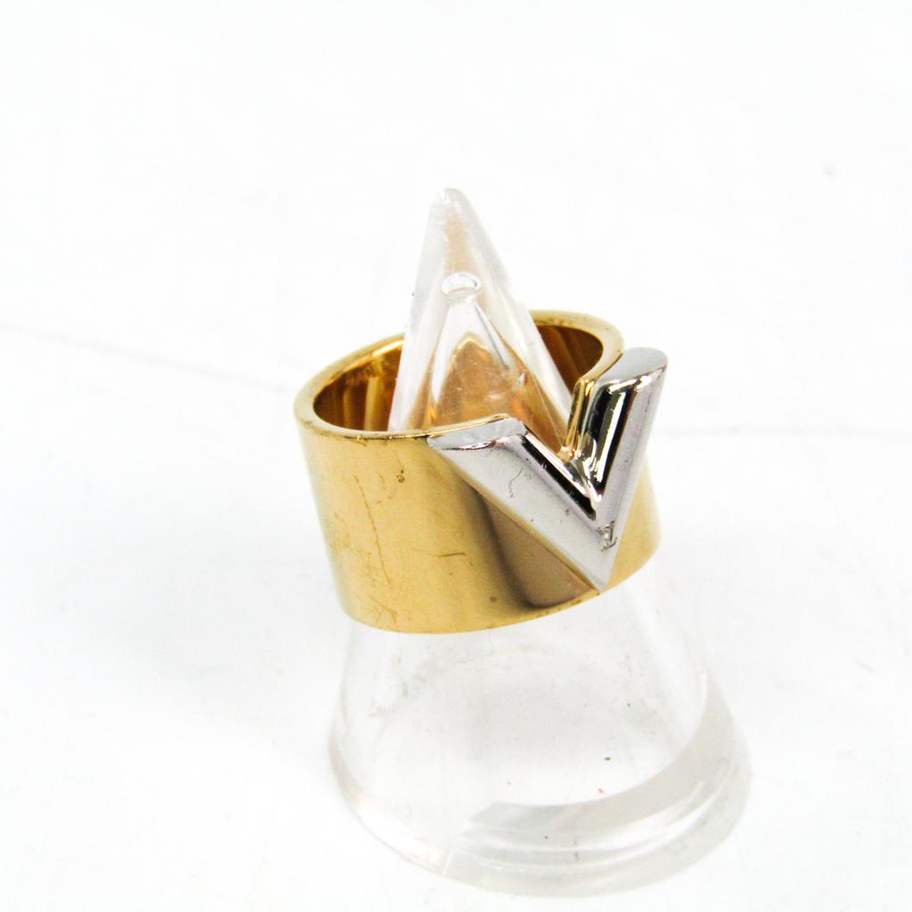 ルイ・ヴィトン(Louis Vuitton) リング・エセンシャル V M61085 真鍮,シルバー 指輪・リング ゴールド,シルバー 【中古】