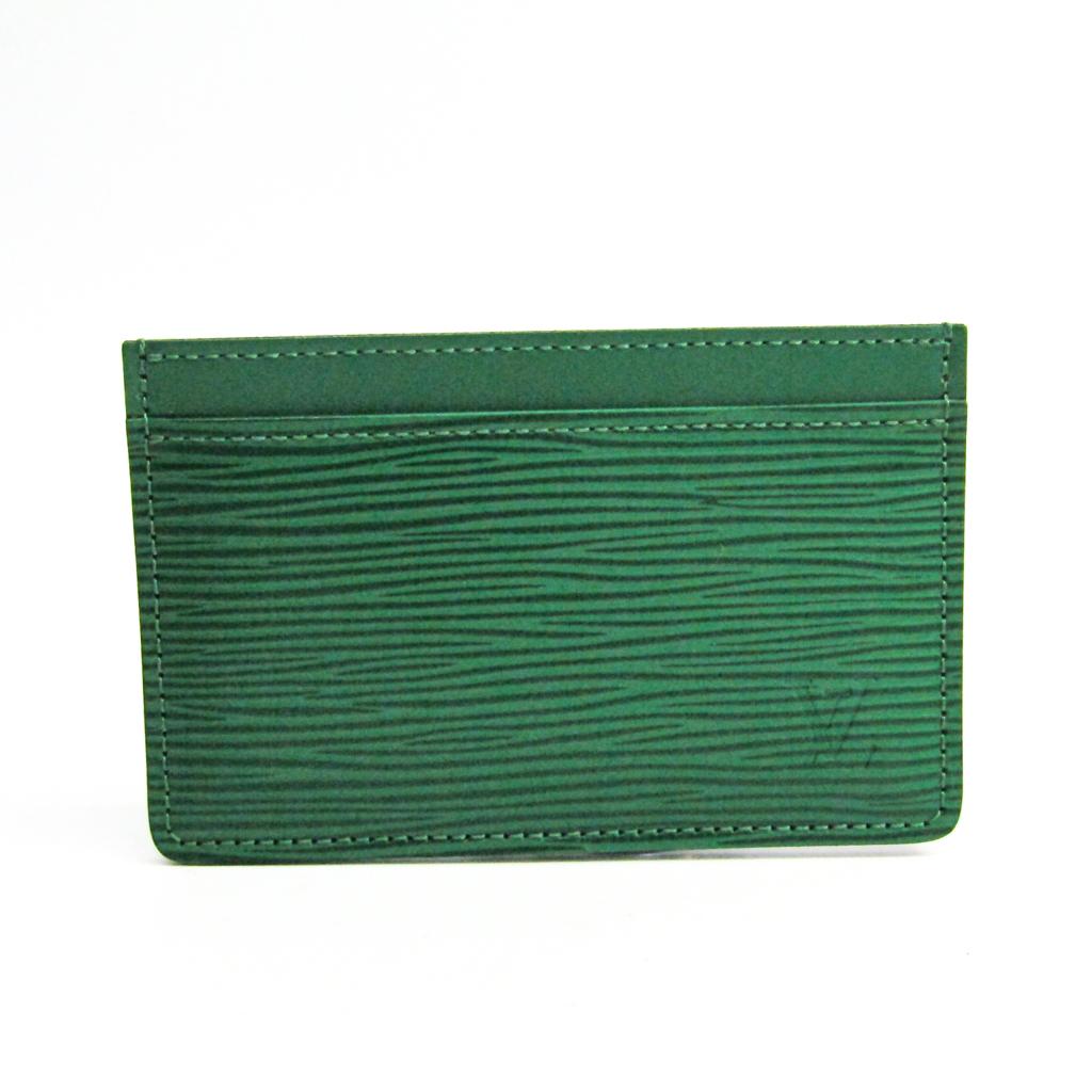 ルイ・ヴィトン(Louis Vuitton) エピ ポルト カルト サーンプル M60325 エピレザー カードケース グリーン 【中古】