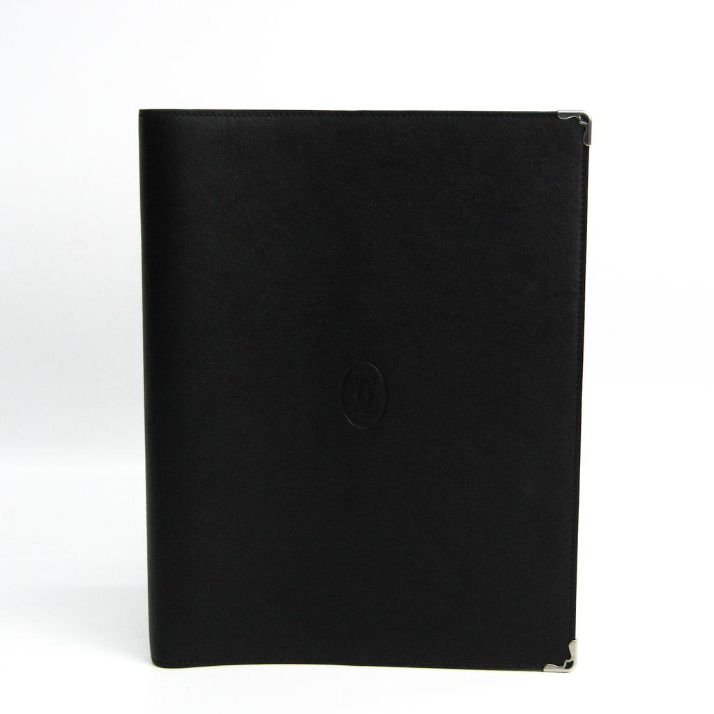 カルティエ(Cartier) 手帳 ブラック オーガナイザー 日記カバー ブックカバー L3001529 【中古】