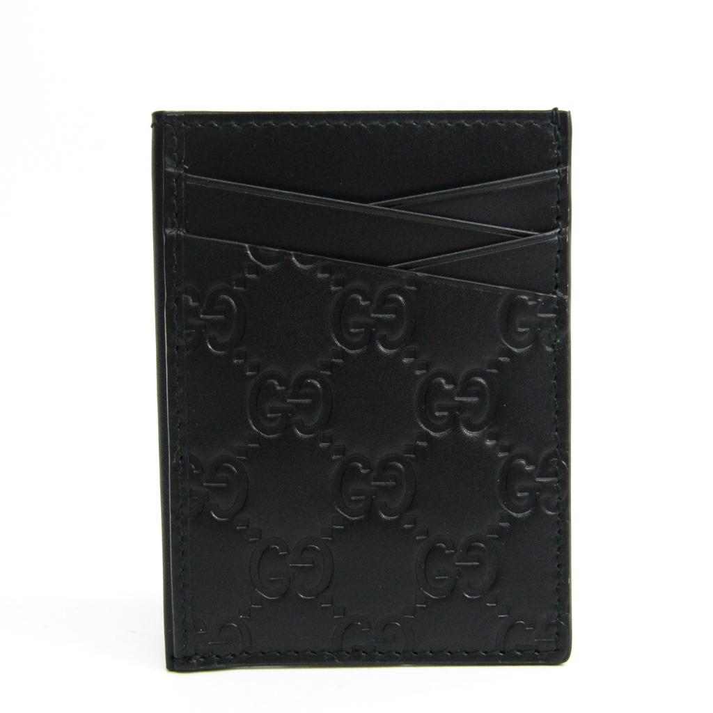 グッチ(Gucci) グッチッシマ 495015 レザー カードケース ブラック 【中古】
