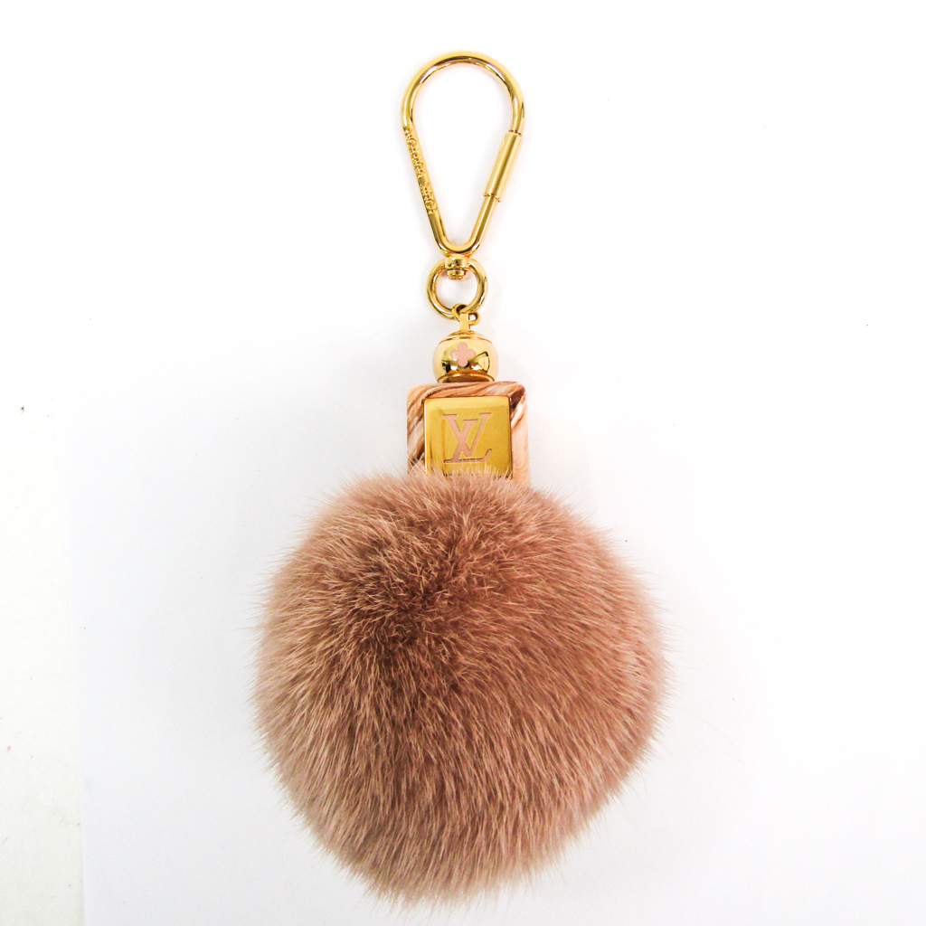 ルイ・ヴィトン(Louis Vuitton) ファー,メタル バッグチャーム ピンク フラッフィー キーホルダー M67943 【中古】