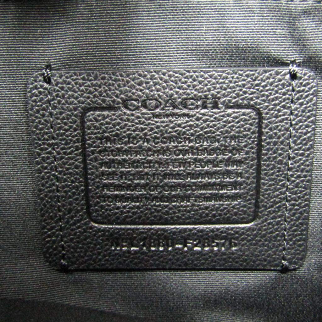 コーチ Coachチャールズ スモール メッセンジャー F28576 メンズ レザー キャンバス ショルダーバッグ ブラックkXZPiu