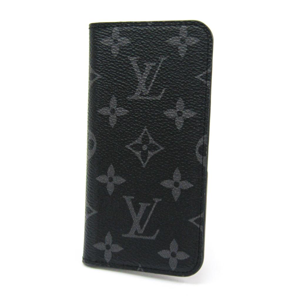 ルイ・ヴィトン(Louis Vuitton) モノグラム・エクリプス iPhone 7&8 フォリオ M62640 モノグラムエクリプス 手帳型/カード入れ付きケース iPhone 7 対応 モノグラムエクリプス 【中古】
