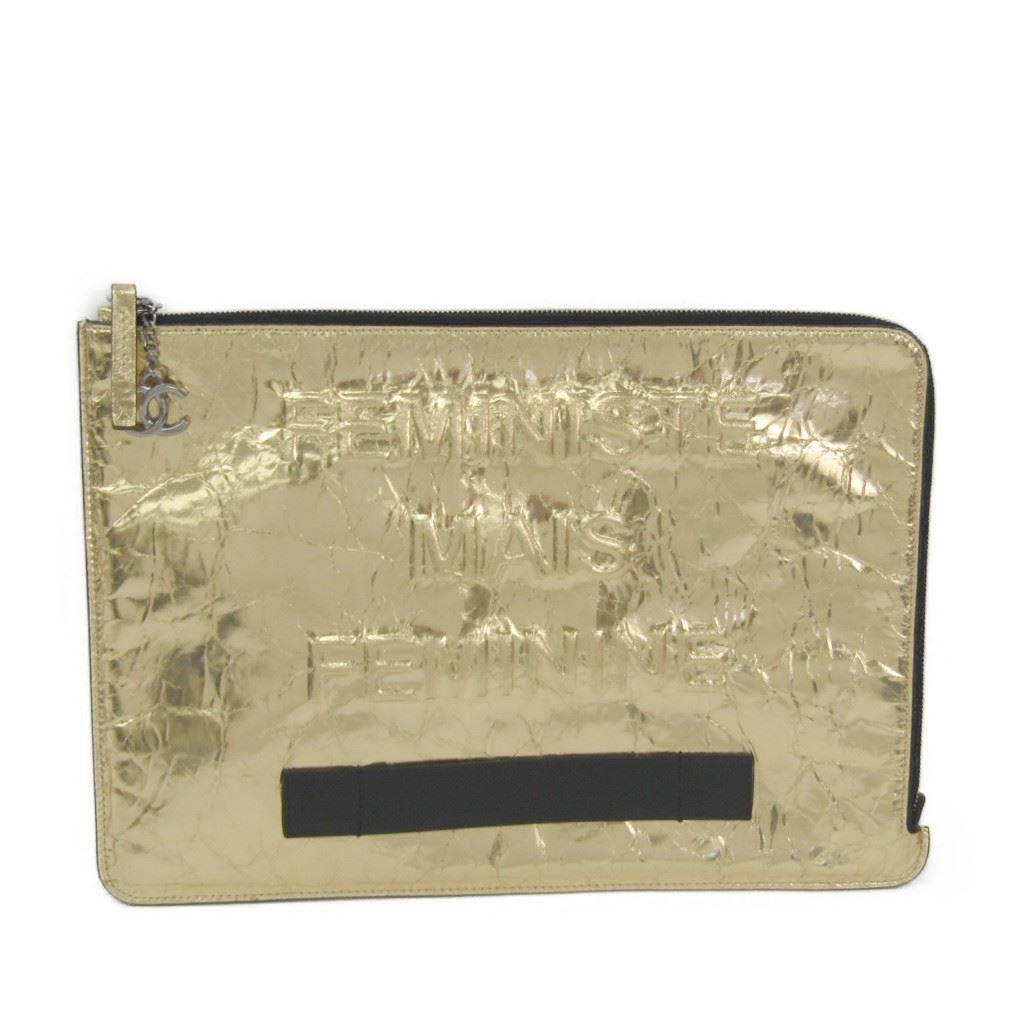 100%本物 シャネル(Chanel) A82164 レザー A82164 クラッチバッグ ゴールド【】【 ゴールド】, LAUGH GRAN:cca99cd6 --- vlogica.com