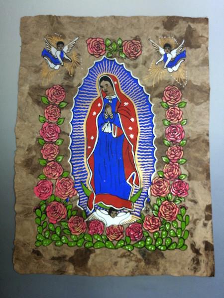 珍しい紙の質感に注目です メキシコ雑貨 上質 アマテ お求めやすく価格改定 メキシコの伝統アート グアダルーペ