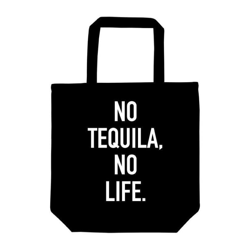 メキシコLOVEなあなたに テキーラトートバッグ NO 新色追加 LIFE TEQUILA ブラック 正規激安