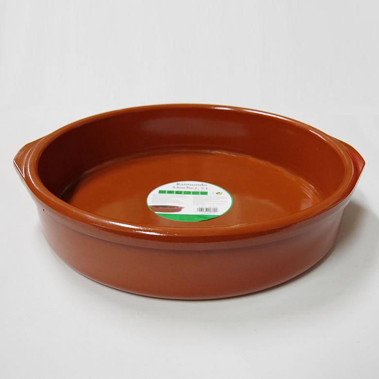 アイテム勢ぞろい アヒージョ鍋 カスエラ 安い 耐熱陶器 耳あり 400mm
