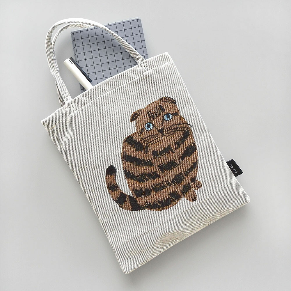 爆安 日本産 ゴブラン織りの猫柄ミニトートバッグ 松尾ミユキ 猫柄ミニトートバッグ
