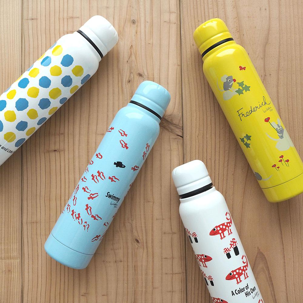 配送員設置送料無料 絵本作家 レオ レオニ メーカー再生品 の代表作をプリントしたスリムな水筒 ステンレスボトル