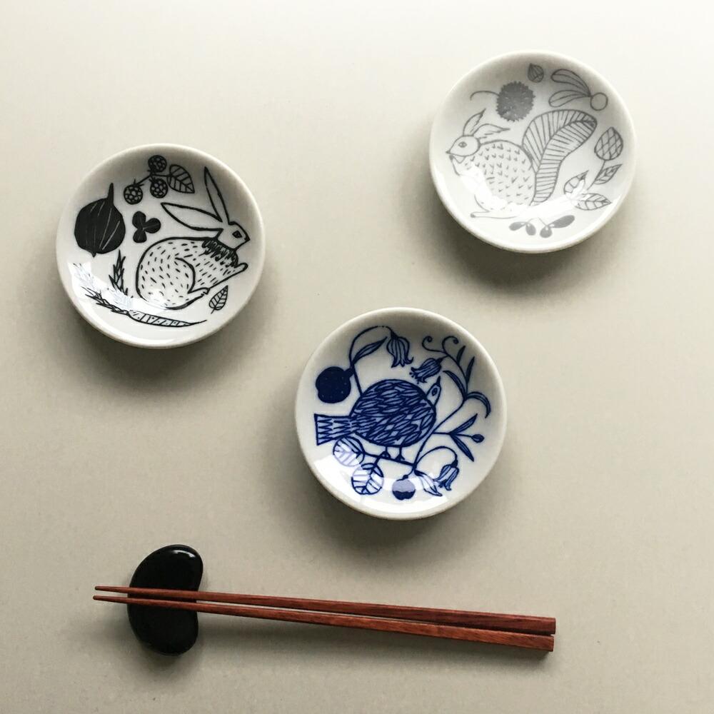 松尾ミユキ 豆皿 9.5cm リス うさぎ とり 入手困難 高品質
