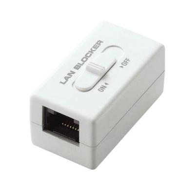 ブランド品 通信遮断機能付RJ-45中継コネクタ ELECOM エレコム ネットワークセキュリティ LANケーブル 入荷予定 LD-DATABLOCK01