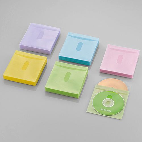 検索に便利なタイトルカード付き 大量のディスクをコンパクトに収納できる両面収納タイプの不織布ケース 新商品 ELECOM エレコム 不織布ディスクケース Blu-ray DVD CD 対応 5☆大好評 CDケース Blu-rayケース タイトルカード付き 2枚収納 5色アソート 120枚セット DVDケース CCD-NIWB240ASO