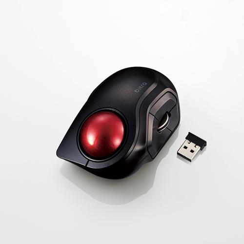 """モバイルに最適なコンパクト設計ながら�い操作性を実現した 着後レビューで 送料無料 人差し指操作タイプのワイヤレスモバイルトラックボール""""bitra"""" エレコム ワイヤレスモバイルトラックボール 人差し指操作タイプ タイプC 2020新作 小型 静か ブラック 5ボタン 静音 無線 M-MT2DRSBK"""
