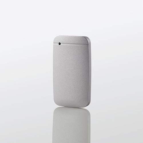 エレコム USB Type-Cケーブル付き 外付け ポータブル SSD 1TB 外付けSSD USB3.2 (Gen1)対応 TLC搭載 Type-C&Type-Aケーブル付属 データ復旧サービスLite付 シルバー ESD-EF1000GSVR