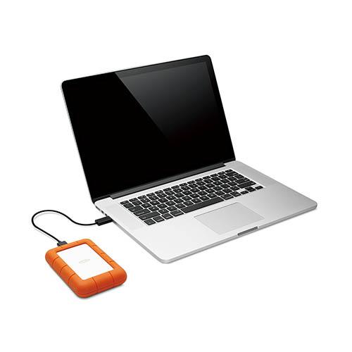 ラシー LaCie Rugged Mini 1TB IP67の防水・防塵、耐衝撃で使用シーンを選ばず、快適な高速データ転送を実現する ポータブル ハードディスク LAC301558