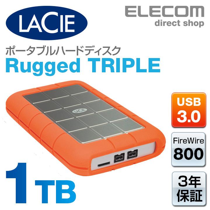 ラシー LaCie 耐衝撃HDD ハードディスク Rugged USB3.0対応 1TB STEU1000400